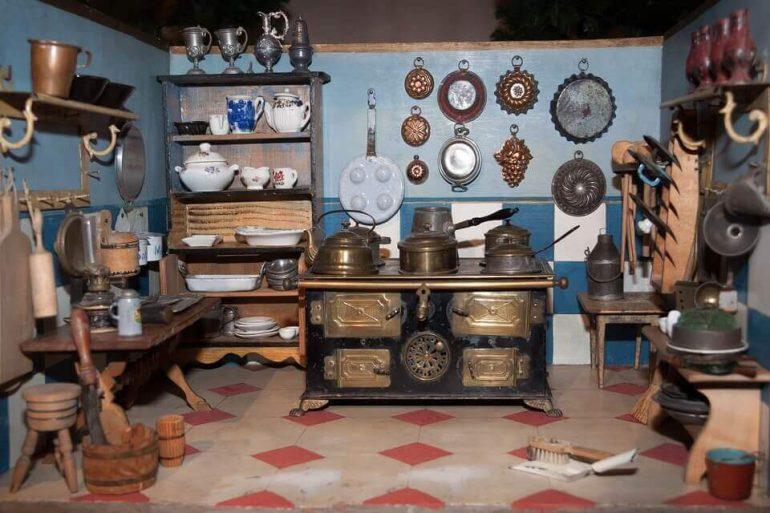 A vintage room's interior