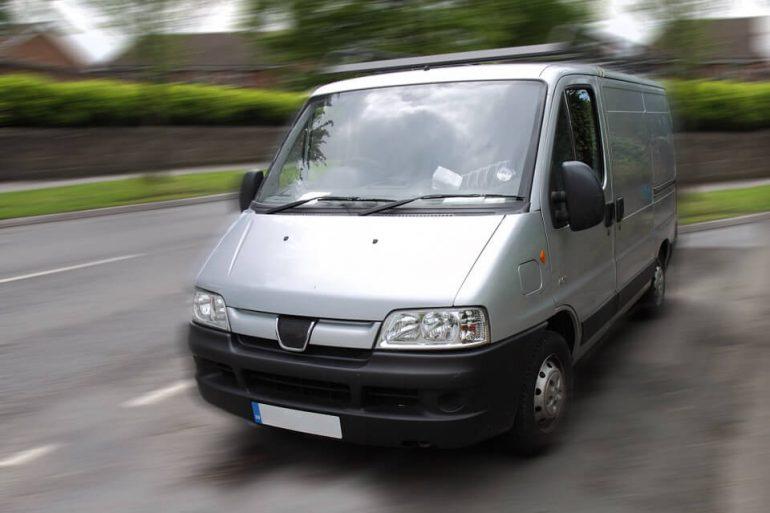 Spinster van - grey van on a street