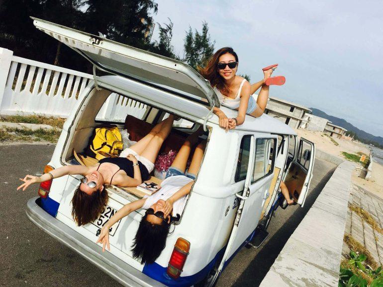 Van life - three girls in a van