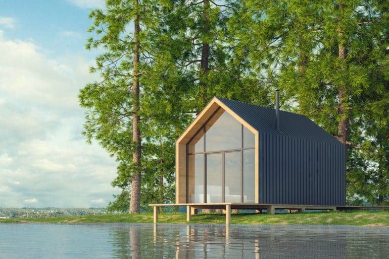 Secluded tiny home near water