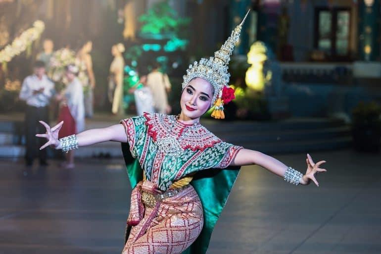 A woman dancing
