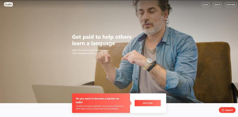 Italki's home page