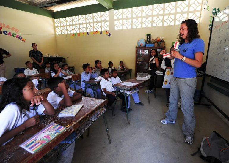 Teaching a class of kids