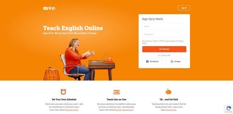 VipKid's home page