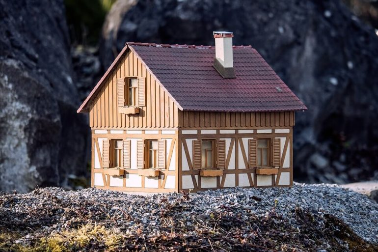 Wooden tiny home