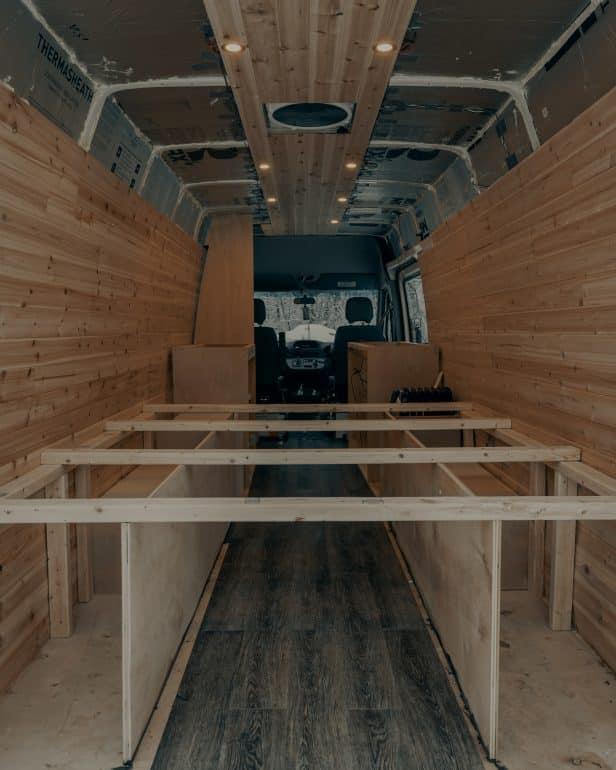 Inside of a van