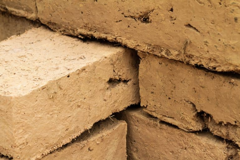 Bricks of a house