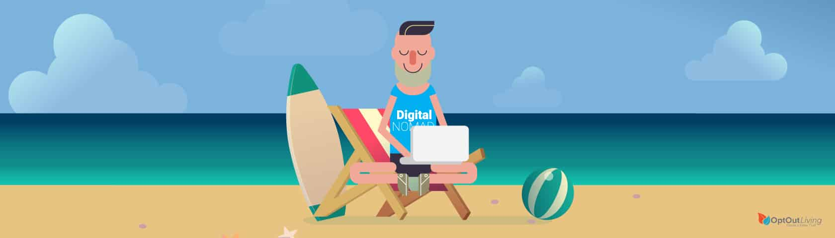 Living as a digital nomad graphic