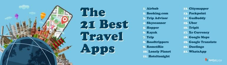Best Travel Apps graphic